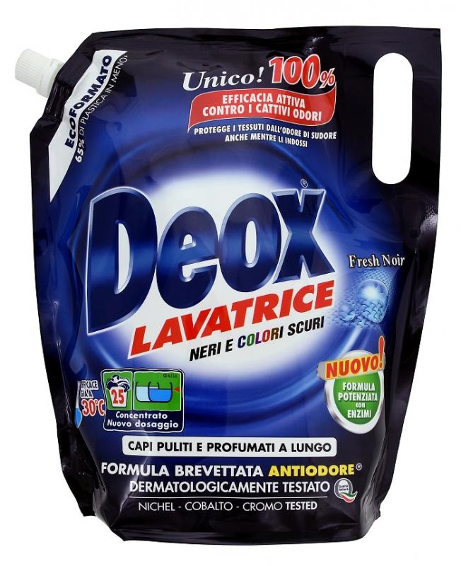 Prací prostředky - DEOX LAVATRICE Fresh Noir Ecoformato 1375 ml prací gel