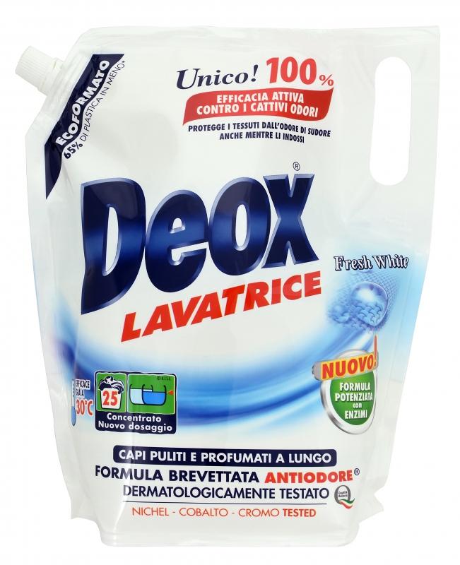 Prací prostředky - DEOX LAVATRICE Fresh White Ecoformato 1375 ml prací gel