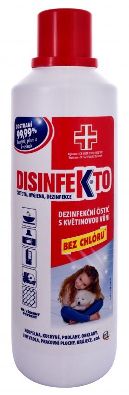 Čisticí prostředky - DISINFEKTO Dezinfekční čistič s květinovou vůní 1000 ml