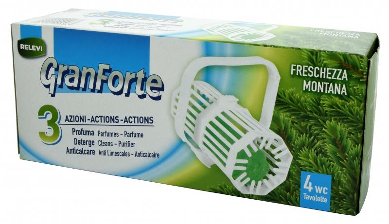 Čisticí prostředky - GRANFORTE WC Pino 4 ks vůně na WC