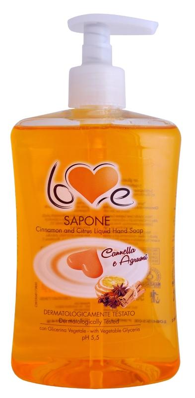 Kosmetika - LOVE SAPONE CREMOSO CANNELLA E AGRUMI 500 ml