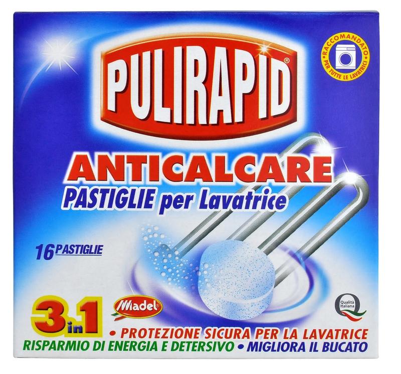 Čisticí prostředky - PULIRAPID ANTICALCARE tablety 256 g odvápňovač pračky