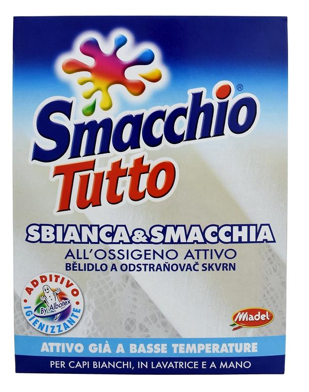 Prací prostředky - SMACCHIO TUTTO bělící účinek 1 kg odstraňovač skvrn