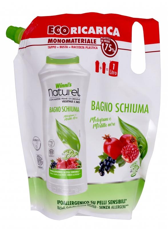 Bio kosmetika - Winnis naturel BAGNO SCHIUMA melograno ecoricarica 1000 ml