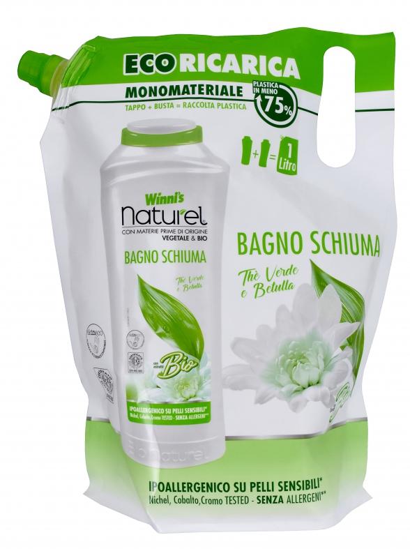 Bio kosmetika - Winnis naturel BAGNO SCHIUMA the verde ecoricarica 1000 ml