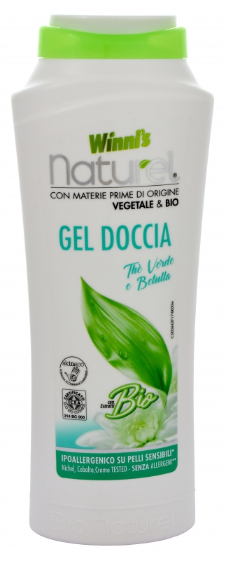 Bio kosmetika - WINNI´S NATUREL GEL DOCCIA THE VERDE 250 ML