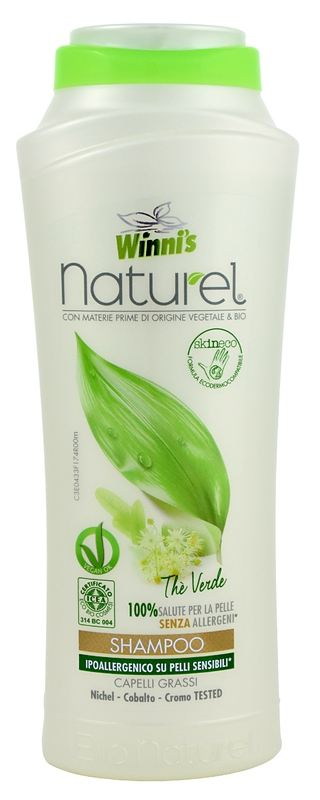 Bio kosmetika - WINNI´S NATUREL zelený čaj 250 ML šampón